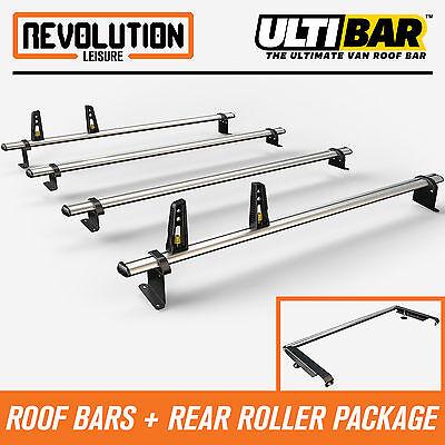 Tailgate 2014 on Van Guard Ulti Bar 3 Bar Roof Rack and Rear Ladder Roller Kit for Mercedes Vito