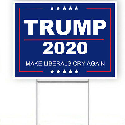 """Trump 2020 Make Liberals Cry Again yard sign with stake 18/""""x24/"""""""