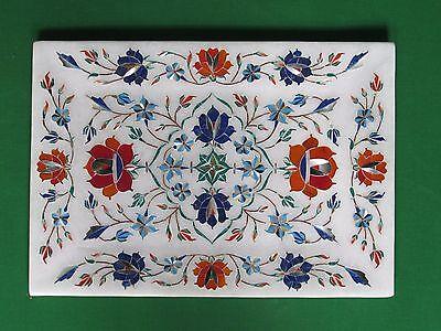 Decorative Marble Tray Handmade Inlay India Art Stone Craft Home Decor P5 Ebay