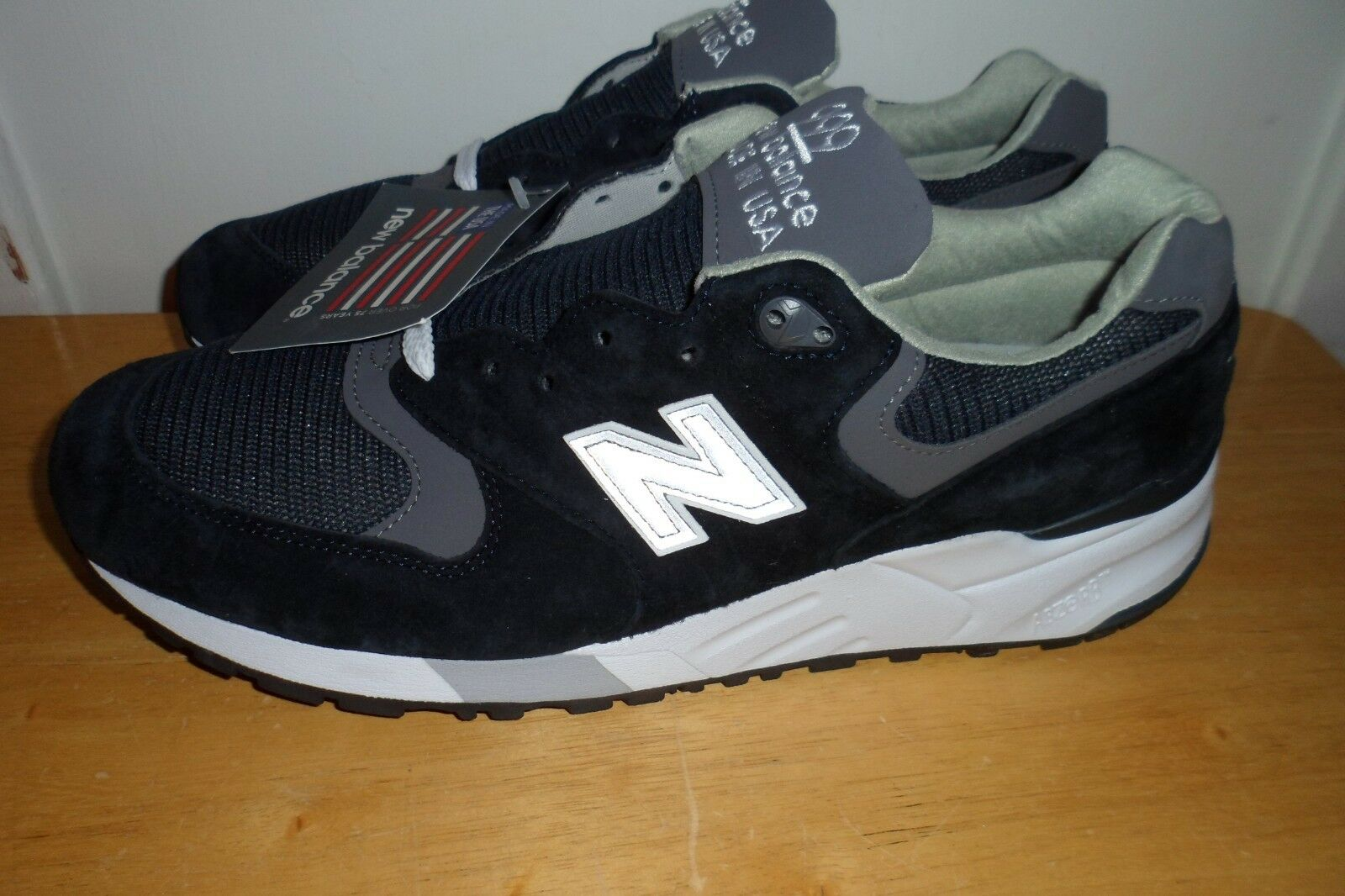 MUST SEE NWT  179.99 NEW BALANCE 999 M999CBL MADE USA MEN 9 D NAVY blueE