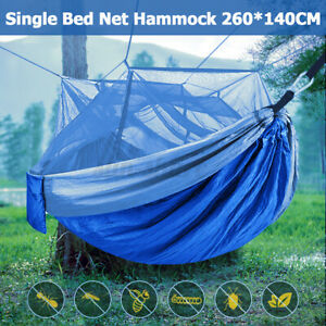 Double Camping Rope Hammock With Mosquito Net 2 person Machine Washable Portable