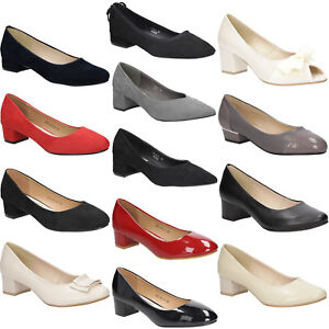 Details zu Damen Pumps Absatz Schuhe Elegant Ganzjährig Komfortable Freizeit Gr. 35 41 NEU