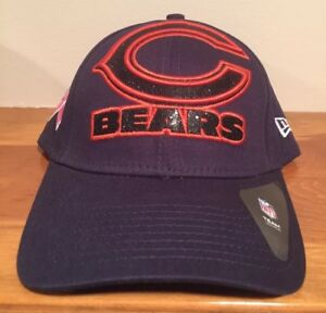 Chicago Bears New Era 9Forty Womens Glitter Glam Breast Cancer Hat ... 3dfd1649dbbd