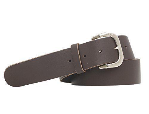 Extra Langer Echtledergürtel 150cm Gesamtlänge braun//schwarz 3cm//4cm Breite