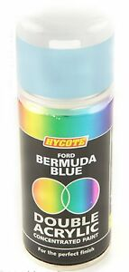 Hycote-Ford-Bermuda-Light-Blue-Double-Acrylic-Spray-Paint-150Ml-Aerosols
