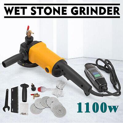 1.4KW Nass-Steinschleifer Granit Naßpolierer Wet Stone Grinder 6 Polierscheibe