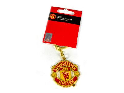 Brillante Manchester United Football Club Distintivo Stemma Ufficiale Metallo Fob Portachi