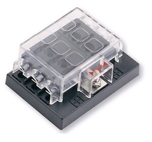 dc 32v 6 way blade fuse box block holder circuit for car. Black Bedroom Furniture Sets. Home Design Ideas