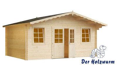 34 mm Gartenhaus ERFURT Gerätehaus Schuppen Holz Holzhaus Gartenhäuser Blockhaus