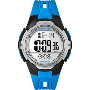 Reloj-Deportivo-TIMEX-maraton-Digital-Nuevo-Azul-TW5M06900-Cuarzo-Cronografo-RRP-45