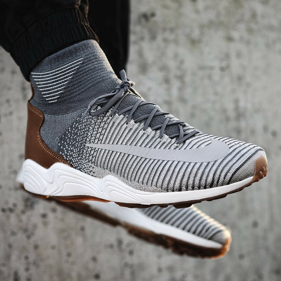 NIKE ZOOM MERCURIAL XI FK Flyknit Running Trainers Casual - () Grey