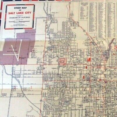 Vtg Salt Lake City Street Map 1952   eBay