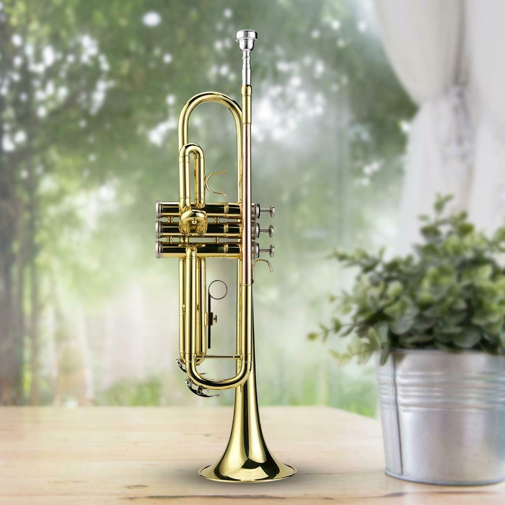 Professional Beginners Trumpet with Case + Mouthpiece + Straps + Cleaning Strip