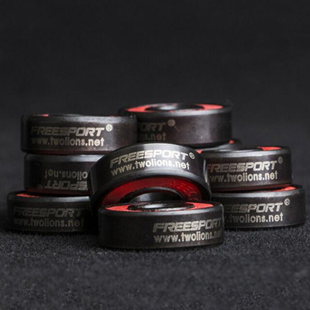 608RS High Hardness Roller Skates Ceramic Steel Ball Inline Bearings Drift vi