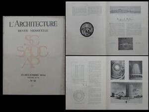 Amical L'architecture 1934 - Cabine Paquebot, Gare Mulhouse, Sestrieres, Bonade-bottino Saveur Aromatique