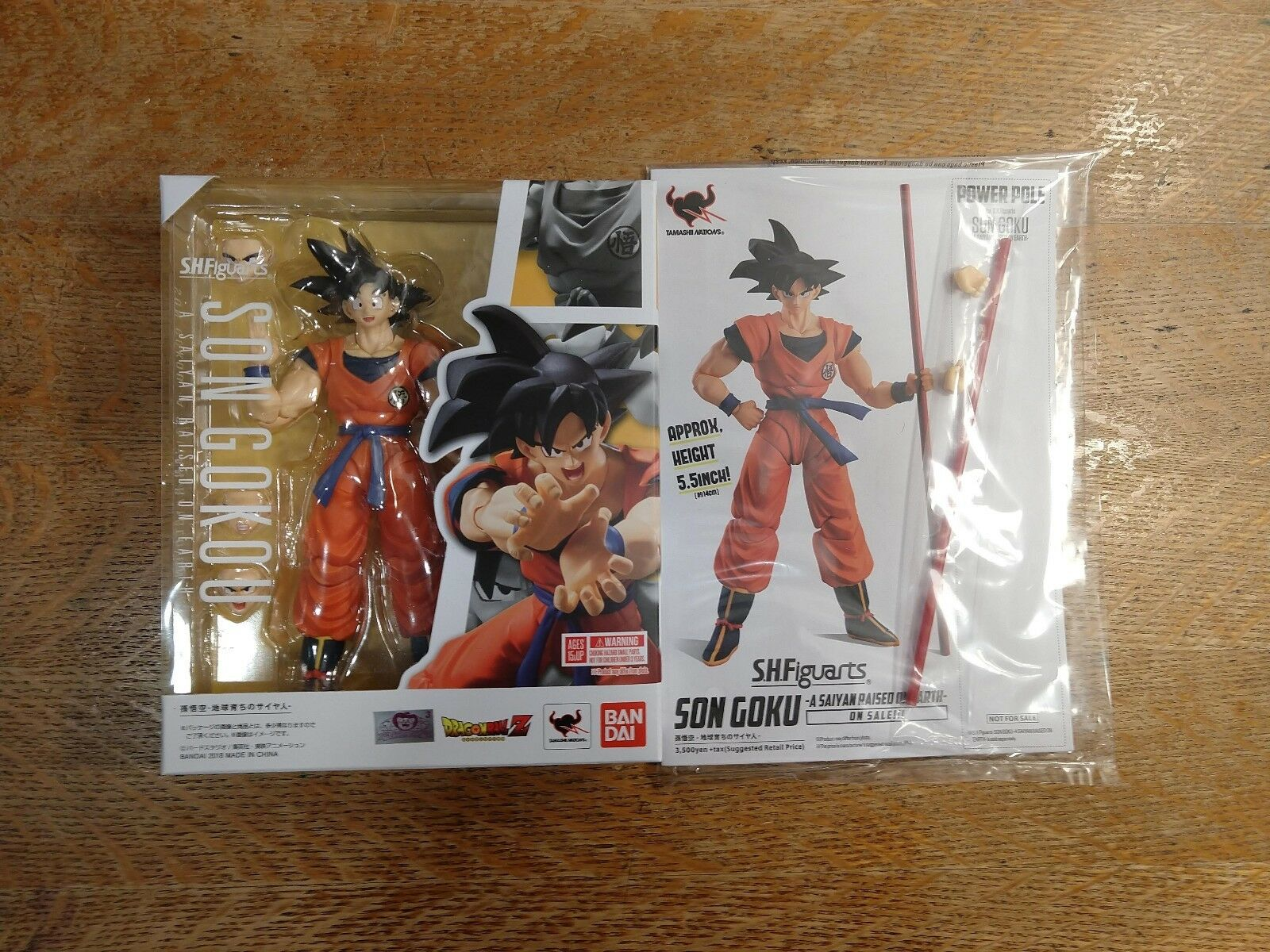 Authentic s.h. figuarts DBZ NYCC Goku 2.0 Saiyan Raised on Earth & Power Pole