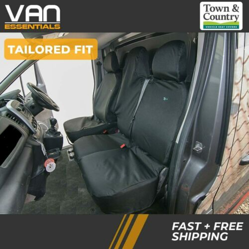 Tailored Fit Seat Covers for the Vauxhall Vivaro 2014 On Drivers/&Folding Doub...