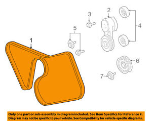 details about ford oem 07-08 mustang 4 6l-v8-serpentine drive fan belt  7r3z8620d