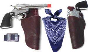 Kids Western Cowboy Toy Gun Holster Set w/ Belt & Bandana