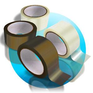 174x-Rollen-KLEBEBAND-87x-transparent-87x-braun-Packfilm-Paketfilm-Packband-50m