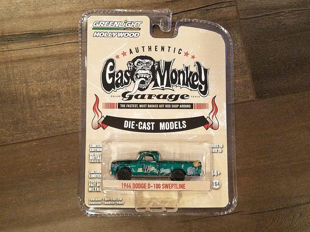 GRENljus 1  64 GAS MONKEY GAGE 1964 DODGE D -100 SWEPTLINE 44700 -E CHASE bil