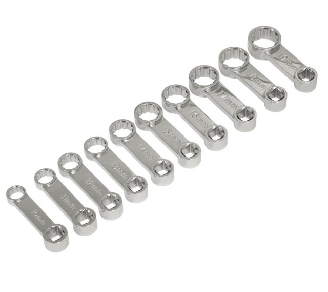 7 PC METRIC CROWS FOOT END SOCKET WRENCH CROWFOOT CROWSFOOT TOOL SET 10 TO 19 MM