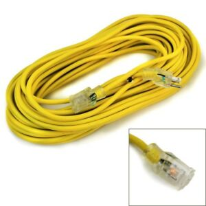 50-feet 12-Gauge industrial power Electrical Extension Cords cable tri-tap UL