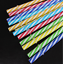 Hard Plastic Stripe drinking Straws mixcolor weeding straws Reusable 10 Pcs