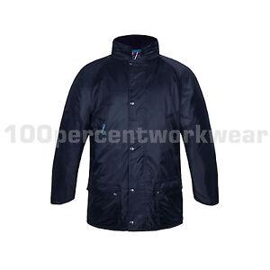 Aqua Navy Blue Mens Storm King Waterproof Jacket Quilt Lining Parka ... 401bc7145
