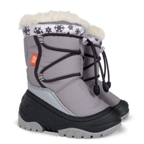 GIRLS BOYS KIDS SNOW WINTER BOOTS THERMAL MOON FUR BOOTS UK size 5-11 EU 22-29