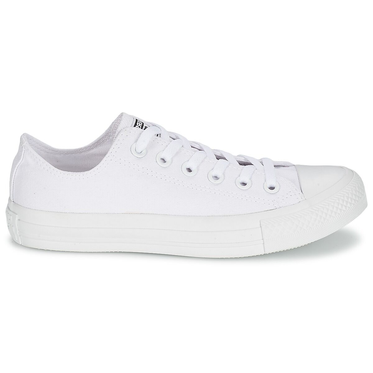 NEW Converse Womens Chuck Taylor OX All Star Mono Low Trainers Shoes - All White