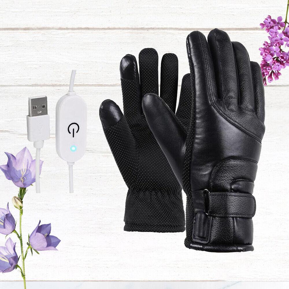 1 Paar elektrische Heizhandschuhe USB-Aufladung Mode-warme Handschuhe für Reiten