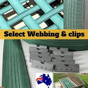 12 Pack Upholstery Webbing Intes Elastic Furniture Webbing V Clips 50mm