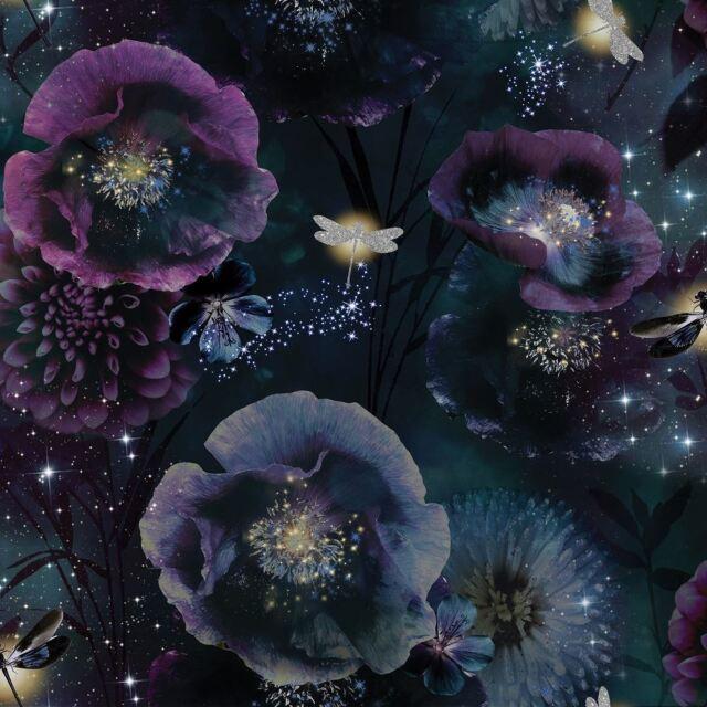 Luxury Designer Stella Heather Floral Wallpaper by Belgravia Decor 9751 Shade A