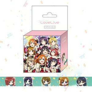 Love-Live-School-Idol-Project-Paper-Maksing-Washi-Tape-Scrapbook-Sticker