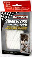 Finish Line Gear Floss - 20 x 20-inch Microfiber Bike Cleaning Ropes CX MTB Road