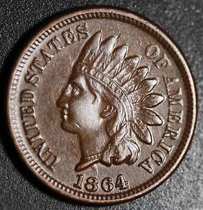 1864-INDIAN-HEAD-CENT-With-LIBERTY-amp-DIAMONDS-AU-UNC-BRONZE