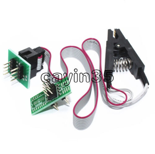 SOP8 SOIC8 Test Clip For EEPROM 24Cx  93//25  in-Circuit Programming 2 Adapters