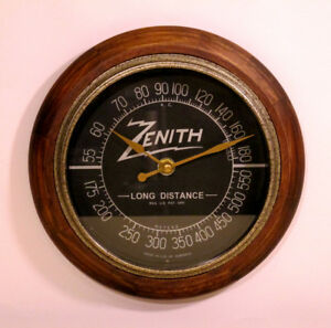 Old-Antique-Style-Zenith-Radio-Themed-Clock-Classic-Black-Dial-Tube-Radio-Style