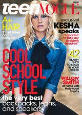 TEEN VOGUE Magazine August 2014,Kesha,Willow Smith NEW