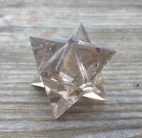Natural Smokey Quartz Gemstone Merkaba Star (one)