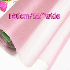 2 Yards Rose Shadow Pure Silk Organza Bridal Dress Fabric 140cm Tulle Voile