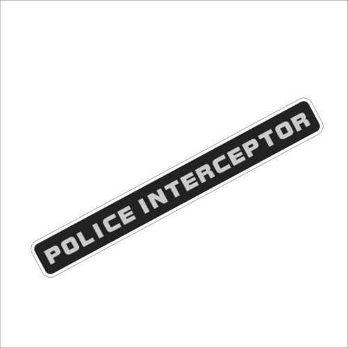 SPR 3M Graphics Police Interceptor Vinyl Car Bumper Window Laptop Sticker Decal