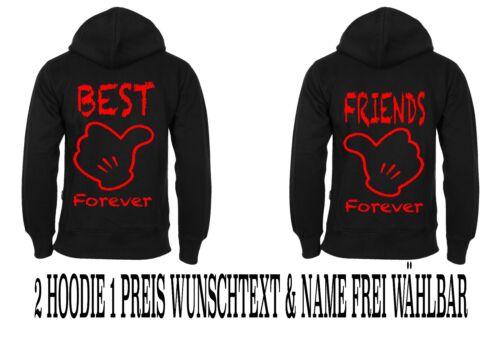 5XL Hoodie Best Friends Pullover 2 Stück Partner Look Viele Farben Love XS