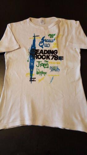 Vintage 70s 1978 Reading Rock Festival T-Shirt Jam
