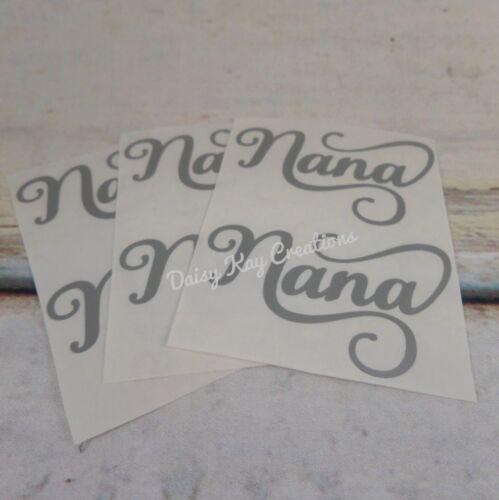 V36 6 x Nana Wine Glass Vinyl Stickers Wine Glasses Perfect For Baubles