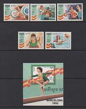 CAMBODIA 1992 OLYMPIC GAMES, BARCELONA (4th) SET & MIN SHEET *FINE MNH*