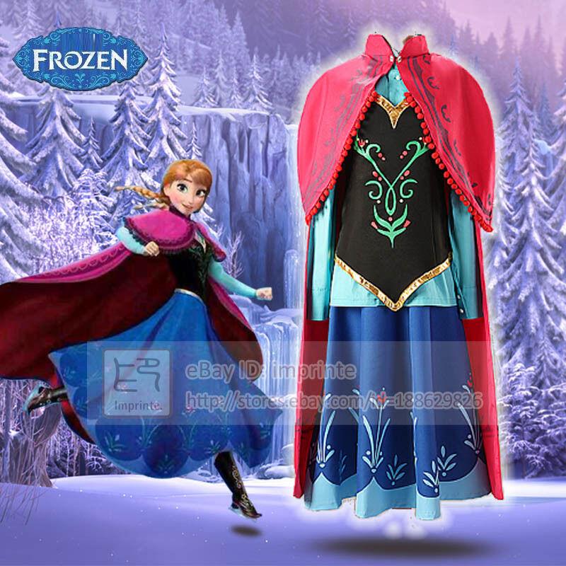 Adulte La Reine Des Des Des Neiges Anna Robe Costume Cosplay Kit Complet - En Stock f48b03