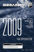 Sea-doo 150 Speedster 2009 Owners Manual Paperback Free Shipping