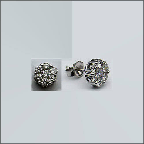 .75ct Diamond Stud Cluster Earrings
